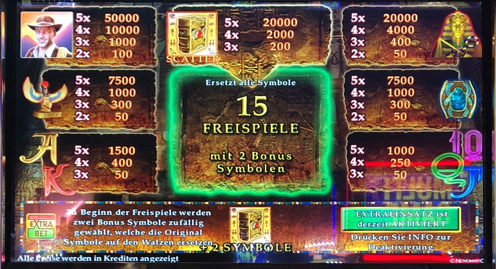 book of ra two symbols german payout table